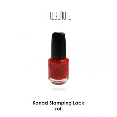 Konad Stamping Lack, Red, 5ml