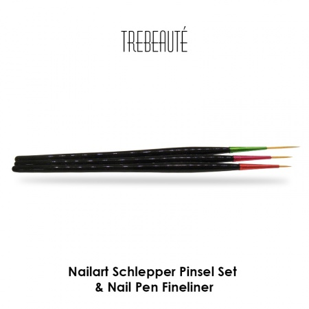 Nailart Schlepper Pinsel Set & Nail Pen Fineliner