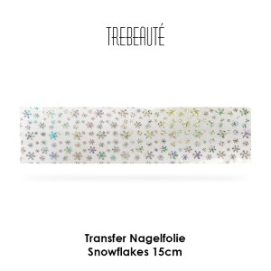 Transfer Nagelfolie - 15cm - Snowflakes / Transparent-Irisierend