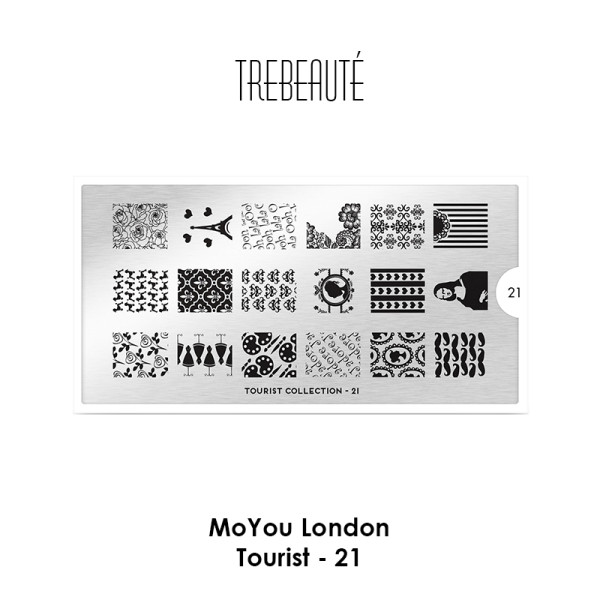 MoYou London - Stamping Schablone - Tourist 21