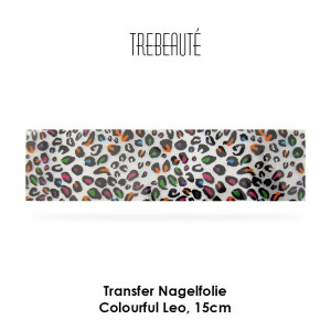 Transfer Nagelfolie - 15cm - Colourful Leo / Hintergrund Transparent